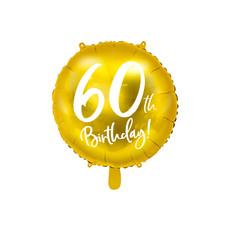 Folieballon 60th Birthday goud (45cm)