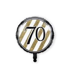 Folieballon '70' Black & Gold