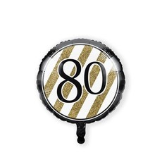 Folieballon '80' Black & Gold