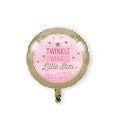 Folieballon Twinkle Meisje - 46 cm