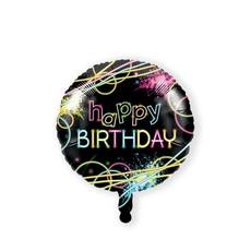 Folieballon Happy Birthday Neon - 46 cm