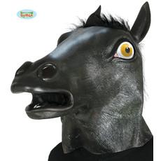 Masker zwart paard met haar