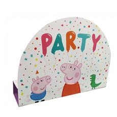 Peppa Pig Uitnodigingskaartjes met envelop 8 stuks