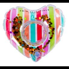 Opblaasbare Bekerhouder Glitter Regenboog Hart