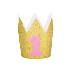 Mini Kroontje 1 Jaar Roze