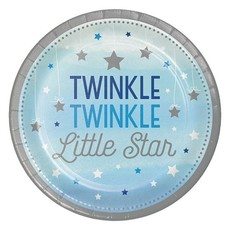 Bordjes Twinkle Little Star Blauw - 8 Stuks
