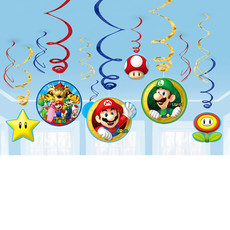 Hangdecoratie Super Mario - 12 Stuks