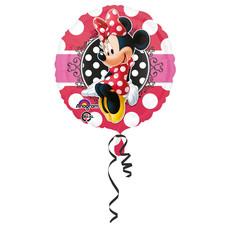 Folieballon Minnie Mouse Stippen Rond - 43 cm