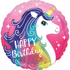 Folieballon Unicorn Happy Birthday - 45 cm