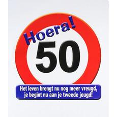 Huldeschild Hoera 50 Jaar