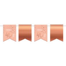 Vlaggenlijn 40 Jaar Roze/Roségoud - 6 Meter
