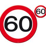 60 Jaar Verkeersbord Placemat en Onderzetter Set - 4x