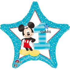 Folieballon 1st Birthday Mickey Mouse - 43 cm
