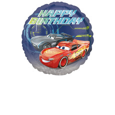 Folieballon Cars Happy Birthday - 43 cm