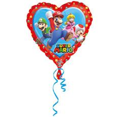 Folieballon Super Mario Hartvormig - 43 cm