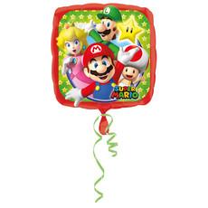 Folieballon Super Mario Vierkant - 43 cm