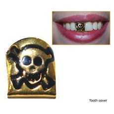 Gouden piraten tand doodskop
