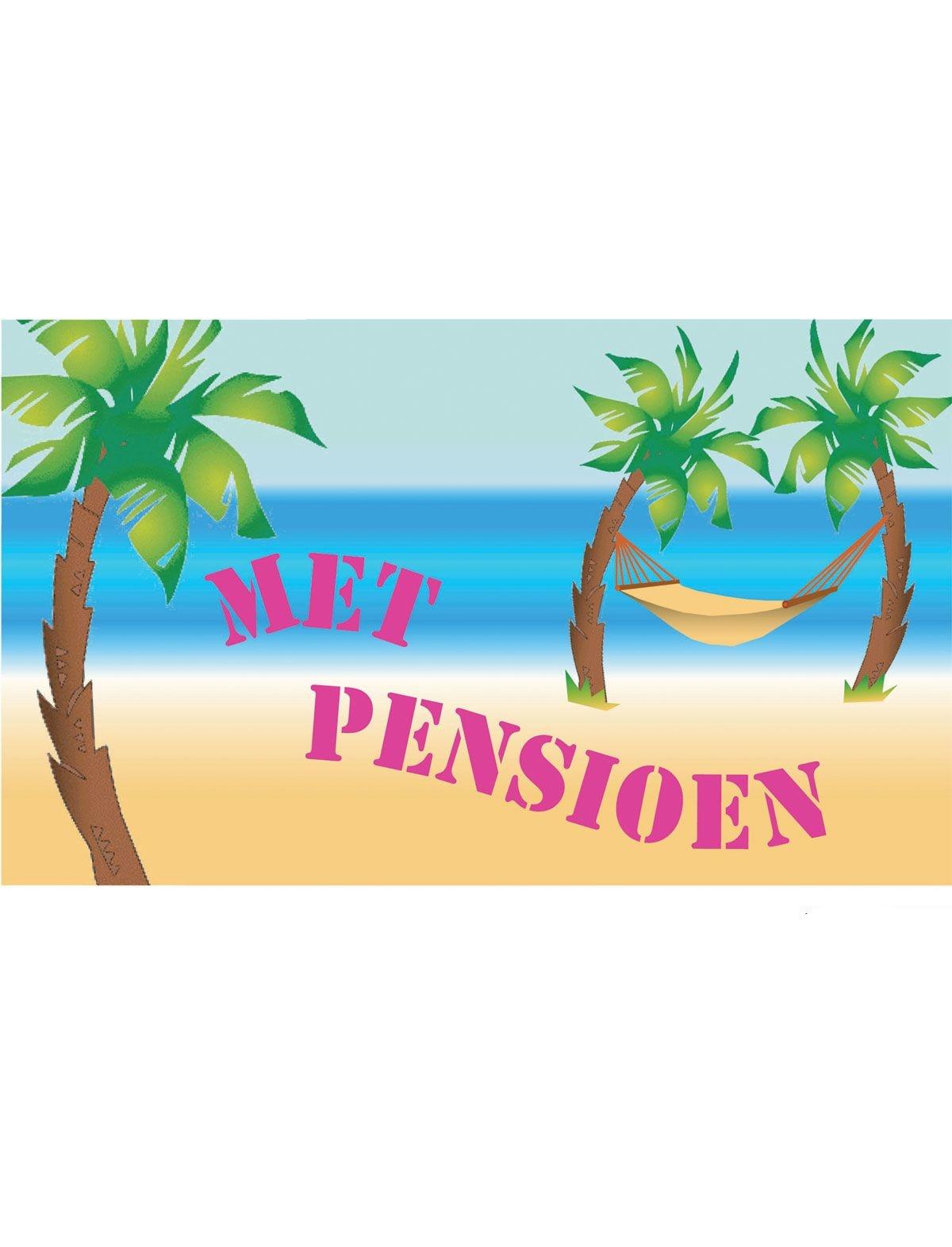 Feestbazaar Vlag Pensioen 90x150cm online kopen