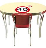 40 Jaar Verkeersbord Placemat en Onderzetter Set - 4x