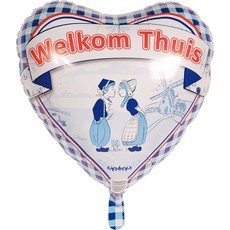 Folieballon Welkom Thuis Delfts Blauw - 45cm