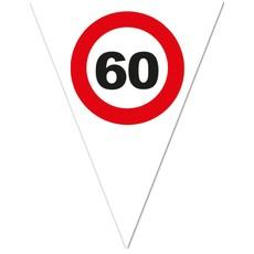Vlaggenlijn Verkeersbord 60 Jaar Wit - 5 Meter