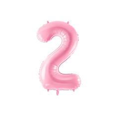 Folieballon cijfer 2 roze 86cm