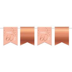 Vlaggenlijn 60 Jaar Roze/Roségoud - 6 Meter