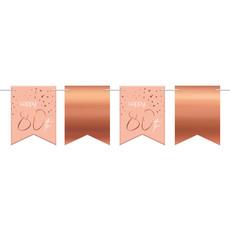 Vlaggenlijn 80 Jaar Roze/Roségoud - 6 Meter
