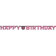 Happy Birthday Letterslinger Sparkling Pink