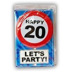 Happy Age Kaart Button - 20 Jaar