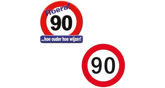 Verkeersbord 90 Jaar