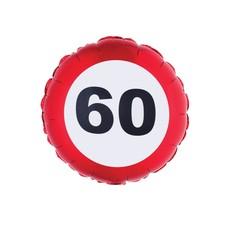 Folieballon Verkeersbord 60 Jaar