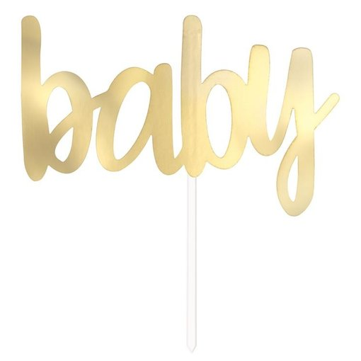 Cake Topper 'Baby' Goud