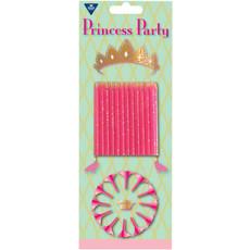 Roze Prinsessen Kaarsjes - 12 Stuks