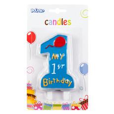 Kaars 'My 1st birthday' Jongen