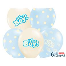 Ballonnen Mix It's A Boy Pastel Blauw - 6 Stuks