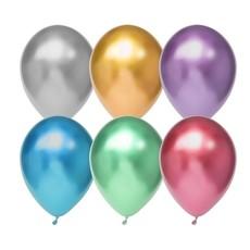 Chrome ballonnen mix kleuren - 6 stuks