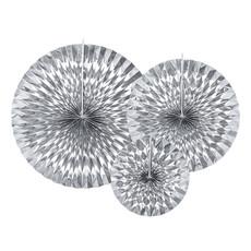 Decoratieve Rozetten Spiegelend Zilver (3st)