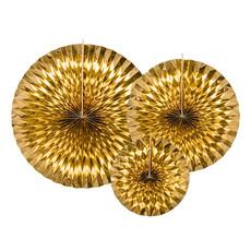 Decoratieve Rozetten Spiegelend Goud (3st)
