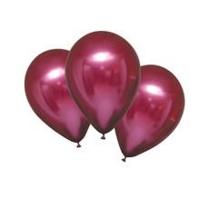 Chrome Ballonnen Granaatappel Rood Luxe - 6 Stuks