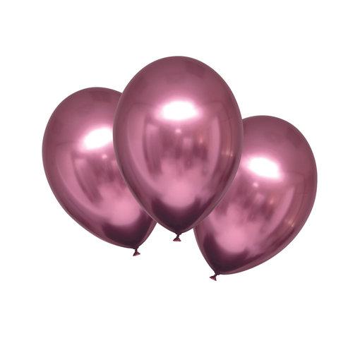 Chrome Ballonnen Flamingo Roze Luxe - 6 Stuks
