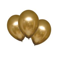 Chrome Ballonnen Satijn Goud Luxe - 6 Stuks
