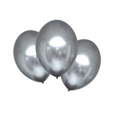 Chrome Ballonnen Platinum Zilver Luxe - 6 Stuks