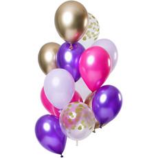 Ballonnen Set Purple Posh Premium - 12 Stuks