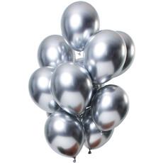 Chrome ballonnen 33cm Spiegeleffect Zilver Premium - 12 Stuks