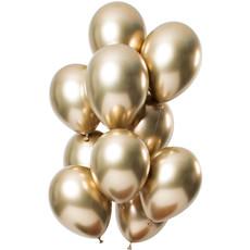 Chrome ballonnen 33cm Spiegeleffect Goud Premium - 12 Stuks