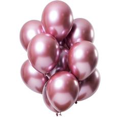 Chrome ballonnen Spiegeleffect Roze Premium 33cm - 12st