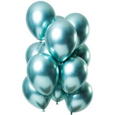 Chrome ballonnen Spiegeleffect Groen Premium 33cm - 12st