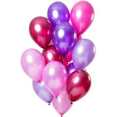 Ballonnen Set Berry Pink Metallic Premium 30cm - 15 Stuks