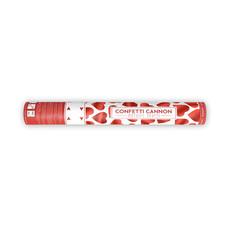 Confetti kanon 40 cm rode hartjes